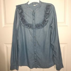 Melrose and Market Denim top long sleeves S